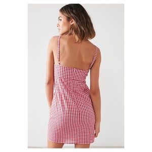 NWT CoOperative red and white gingham dress size 0